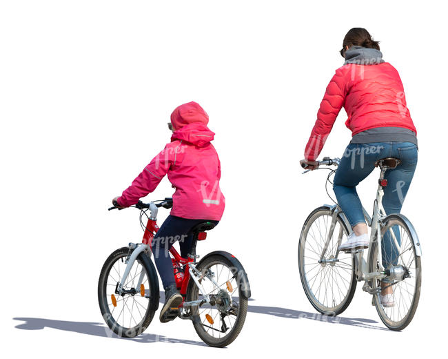 mother and daughter riding a bike
