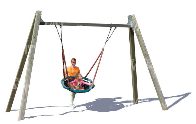 woman and child playing on a playground