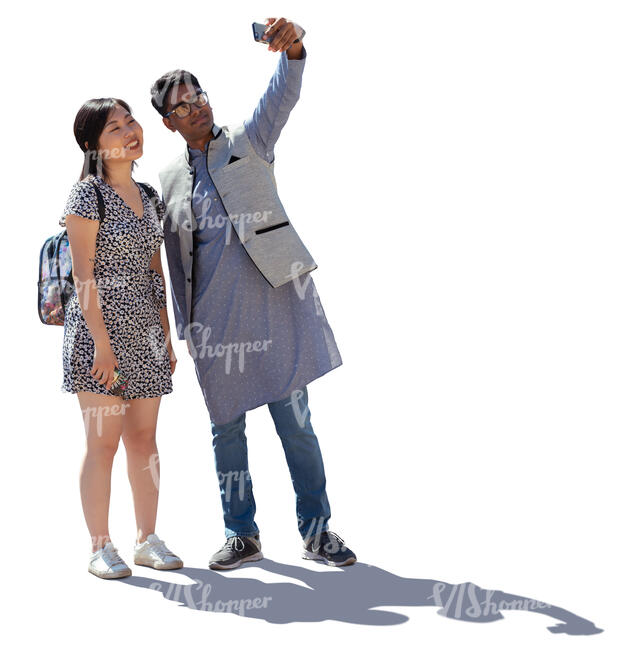 two young people taking a selfie