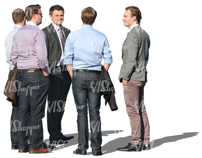 group of businessmen standing in a circle