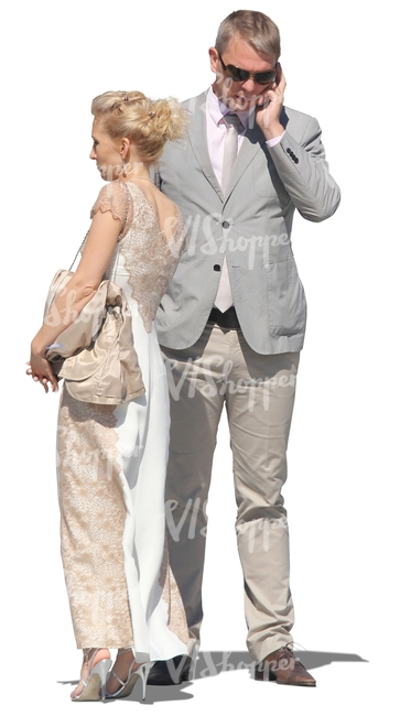 couple in fancy clothes standing