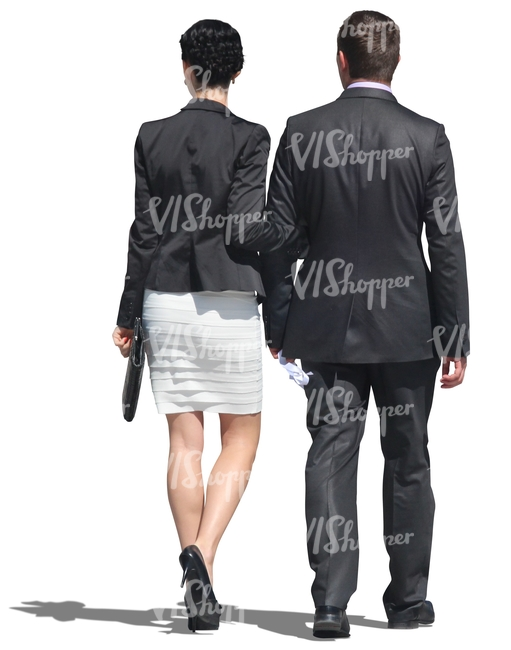 couple walking seen from behind