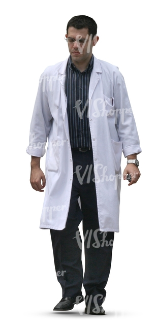 cut out doctor walking