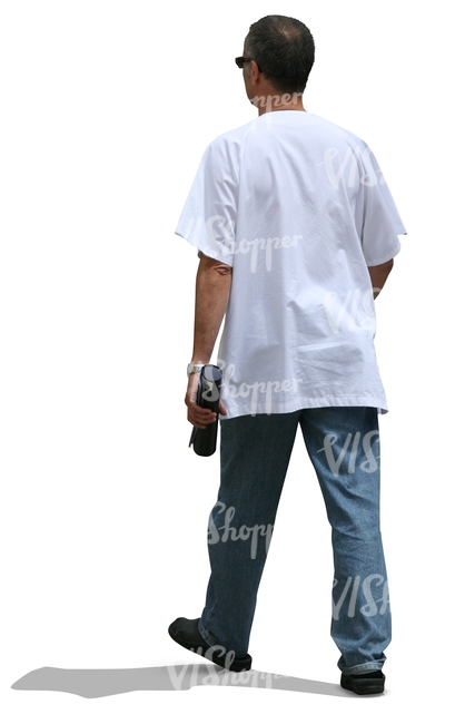 cut out male medical worker walking