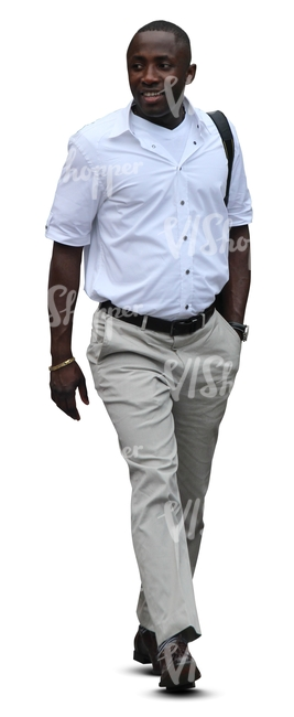 cut out black man walking - cut out people