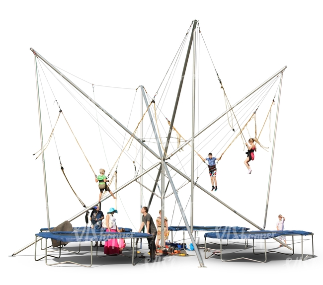 quad bungee attraction for kids