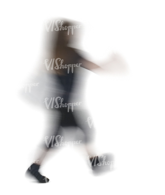motion blur image of a child walking