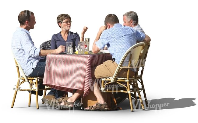 Group Of People Sitting In A Cafe Cut Out People Vishopper