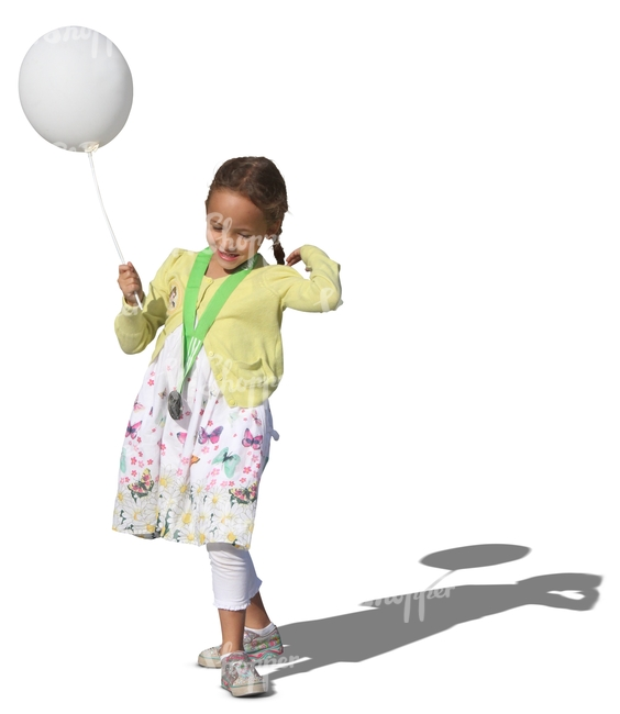 young girl with a balloon
