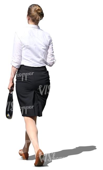cut out businesswoman walking - cut out people - VIShopper