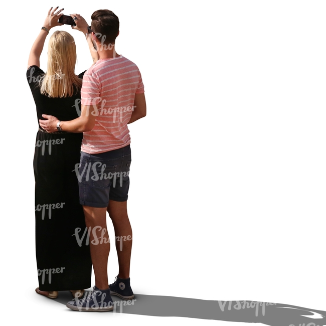 couple standing and taking a picture