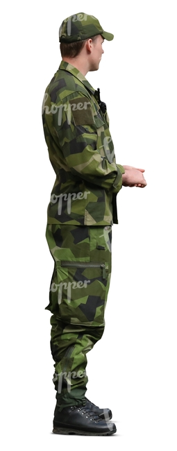 soldier in an army uniform standing