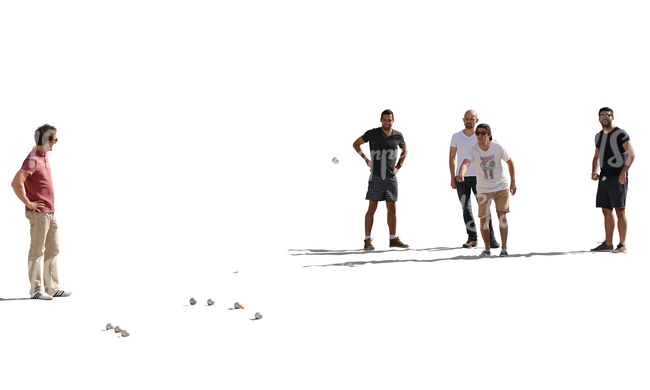 team of men playing petanque