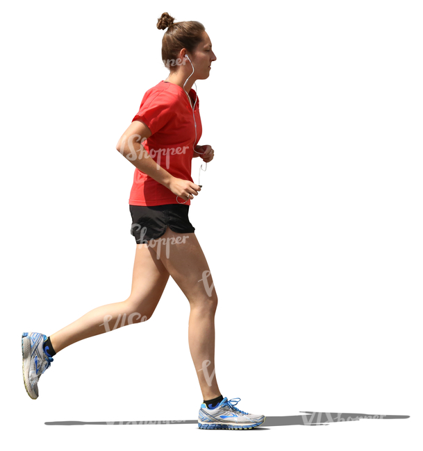 young woman jogging in the sunlight