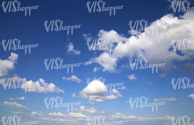 classical blue sky with clouds