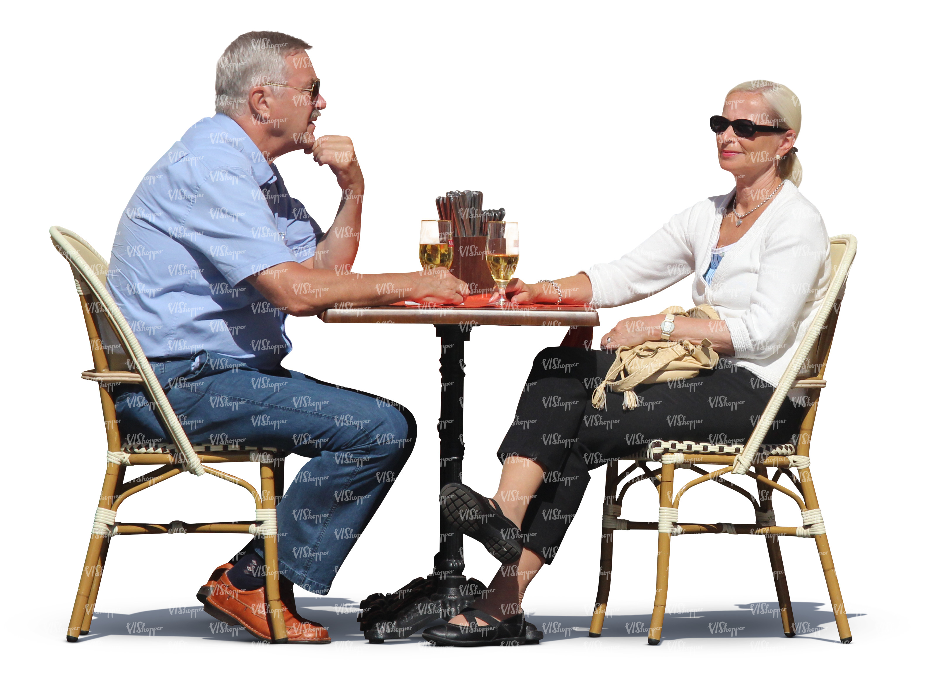 Man and woman sitting in a cafe and drinking wine cut for Coffee tables you can sit on