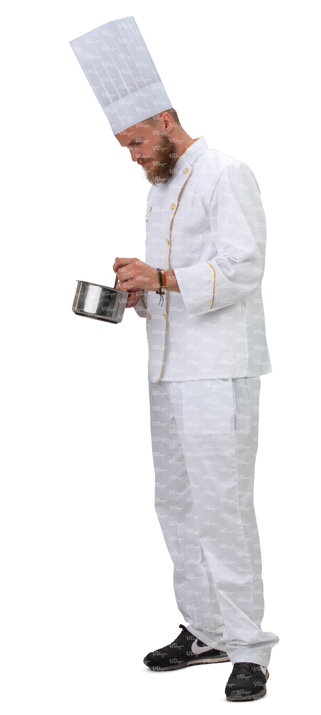 Head Chef Working In A Kitchen Vishopper