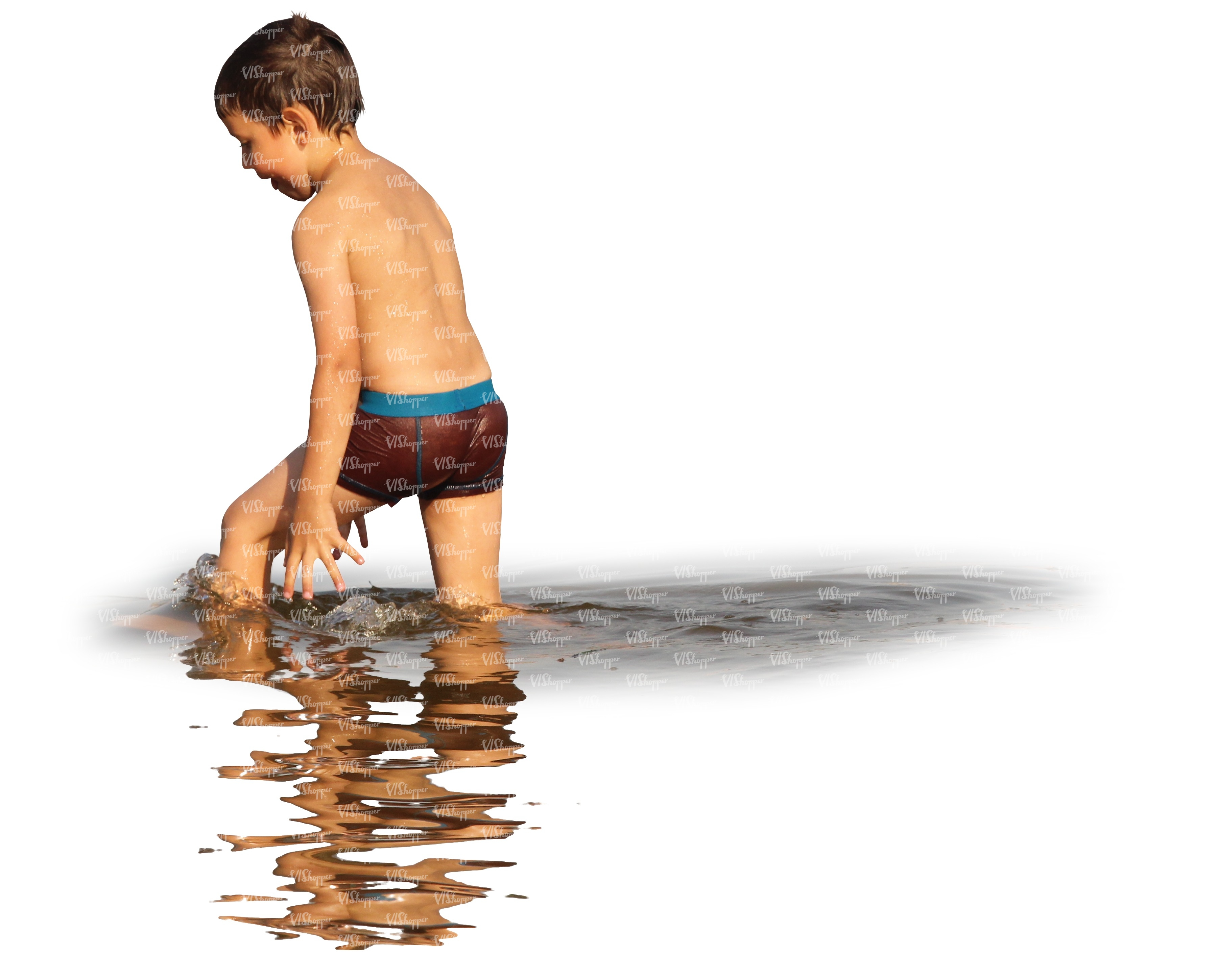 young boy swimming - cut out people - VIShopper