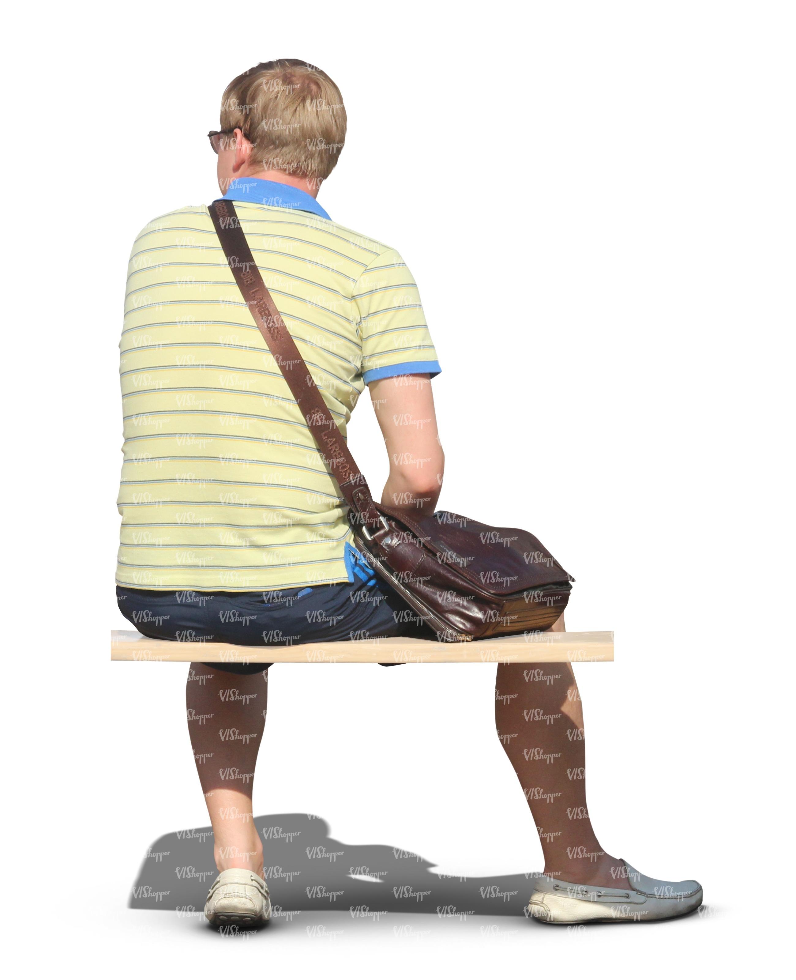 Man Sitting On A Bench Vishopper