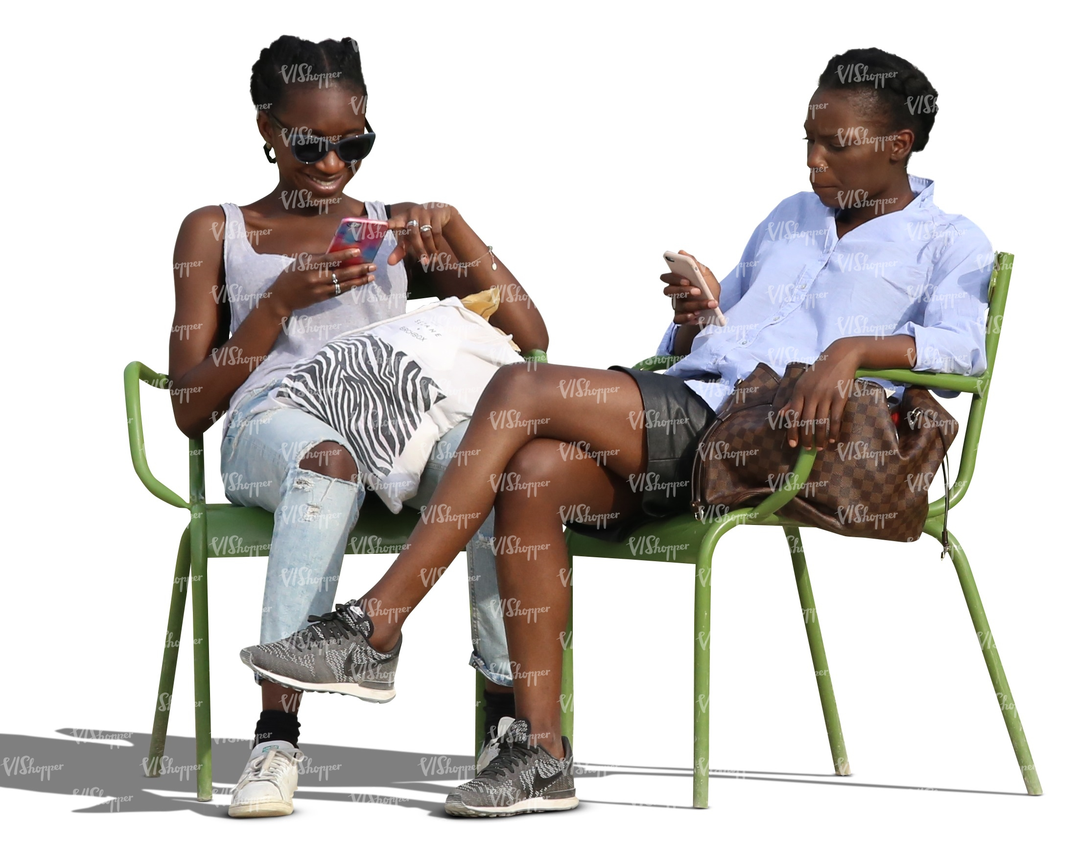 two cut out african women sitting and smiling - cut out people ... for People Sitting At Table Png  177nar