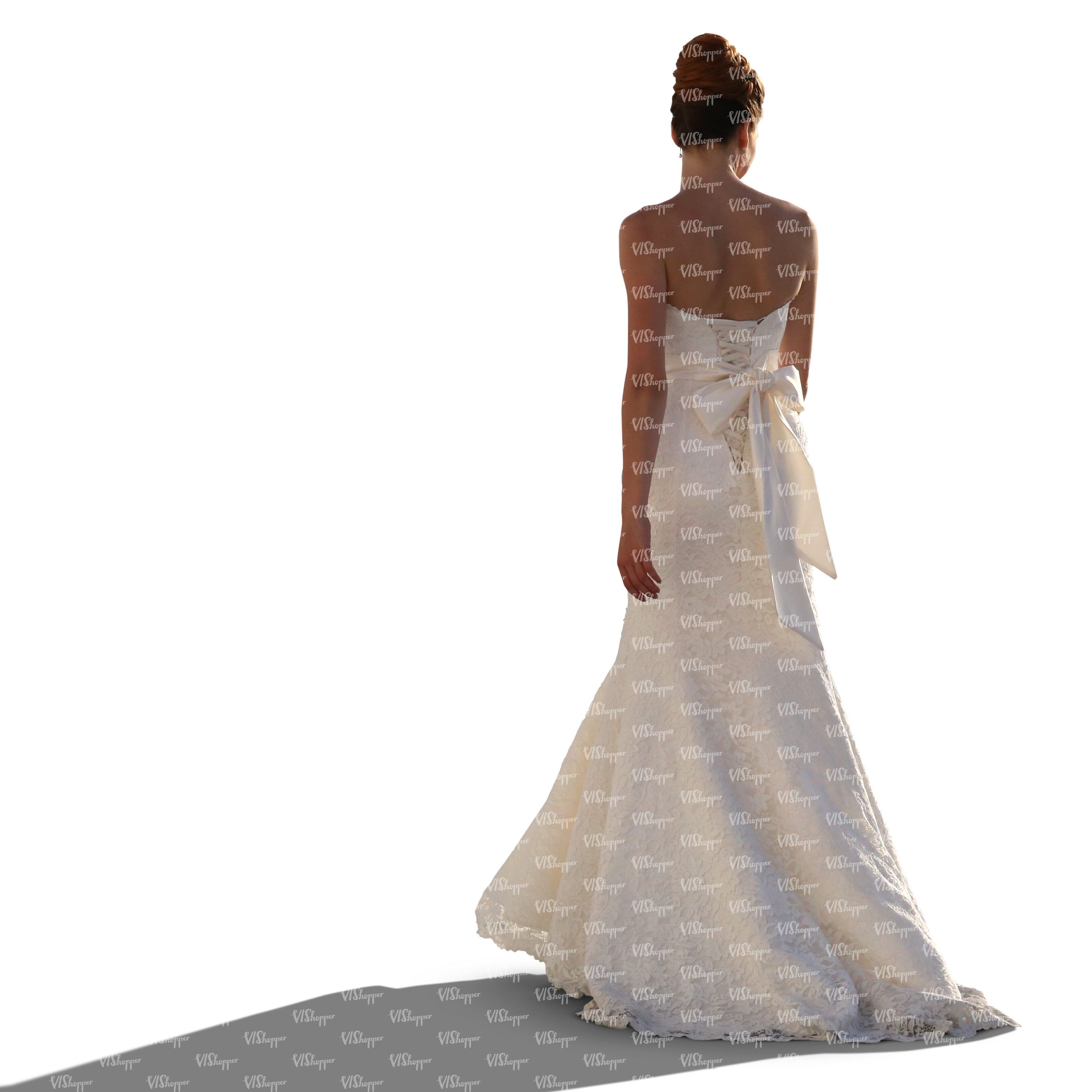 Woman In A Wedding Dress Standing Cut Out People Vishopper